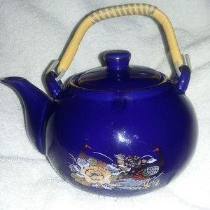 Other - Vintage Cobalt Teapot w/ Peacocks or Other Birds